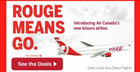 Air Canada Rouge Travels to Costa Rica